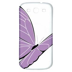 Purple Awareness Butterfly 2 Samsung Galaxy S3 S Iii Classic Hardshell Back Case
