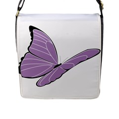 Purple Awareness Butterfly 2 Flap Closure Messenger Bag (large) by FunWithFibro