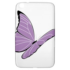 Purple Awareness Butterfly 2 Samsung Galaxy Tab 3 (8 ) T3100 Hardshell Case  by FunWithFibro