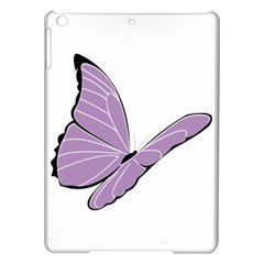 Purple Awareness Butterfly 2 Apple Ipad Air Hardshell Case by FunWithFibro