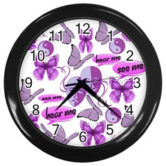 Invisible Illness Collage Wall Clock (black) by FunWithFibro