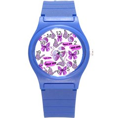 Invisible Illness Collage Plastic Sport Watch (small) by FunWithFibro
