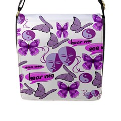 Invisible Illness Collage Flap Closure Messenger Bag (large) by FunWithFibro