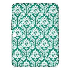 White On Emerald Green Damask Samsung Galaxy Tab 3 (10.1 ) P5200 Hardshell Case