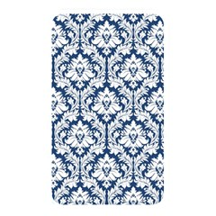 White On Blue Damask Memory Card Reader (rectangular) by Zandiepants