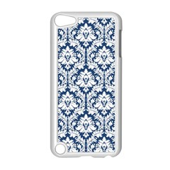 White On Blue Damask Apple iPod Touch 5 Case (White) by Zandiepants