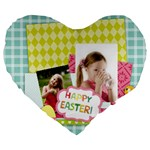 easter - Large 19  Premium Heart Shape Cushion