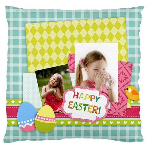 Easter By Easter   Large Cushion Case (one Side)   Cfnma8k9pizr   Www Artscow Com Front