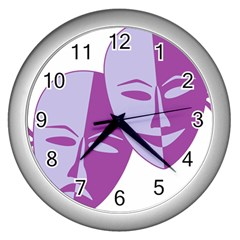 Comedy & Tragedy Of Chronic Pain Wall Clock (silver) by FunWithFibro