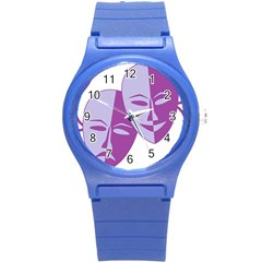 Comedy & Tragedy Of Chronic Pain Plastic Sport Watch (small) by FunWithFibro