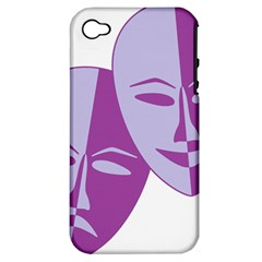 Comedy & Tragedy Of Chronic Pain Apple Iphone 4/4s Hardshell Case (pc+silicone) by FunWithFibro