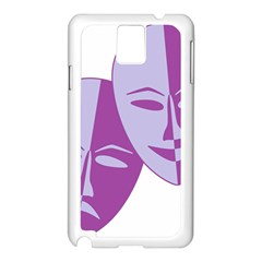 Comedy & Tragedy Of Chronic Pain Samsung Galaxy Note 3 N9005 Case (white) by FunWithFibro