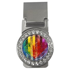 Conundrum I, Abstract Rainbow Woman Goddess  Money Clip (cz) by DianeClancy
