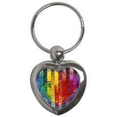 Conundrum I, Abstract Rainbow Woman Goddess  Key Chain (heart) by DianeClancy