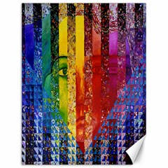 Conundrum I, Abstract Rainbow Woman Goddess  Canvas 12  X 16  (unframed) by DianeClancy