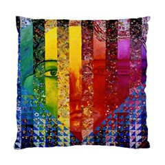 Conundrum I, Abstract Rainbow Woman Goddess  Cushion Case (two Sided)  by DianeClancy
