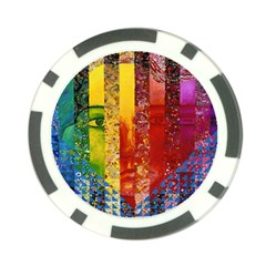 Conundrum I, Abstract Rainbow Woman Goddess  Poker Chip (10 Pack) by DianeClancy