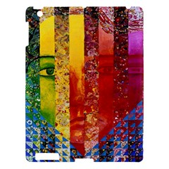 Conundrum I, Abstract Rainbow Woman Goddess  Apple Ipad 3/4 Hardshell Case by DianeClancy