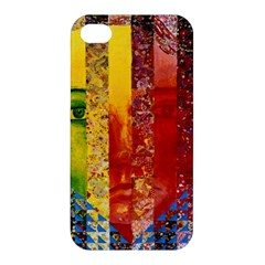 Conundrum I, Abstract Rainbow Woman Goddess  Apple Iphone 4/4s Premium Hardshell Case by DianeClancy