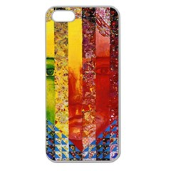 Conundrum I, Abstract Rainbow Woman Goddess  Apple Seamless Iphone 5 Case (clear) by DianeClancy
