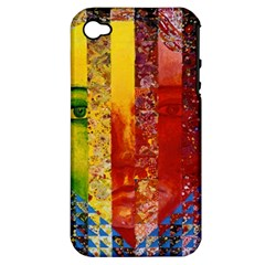 Conundrum I, Abstract Rainbow Woman Goddess  Apple Iphone 4/4s Hardshell Case (pc+silicone) by DianeClancy