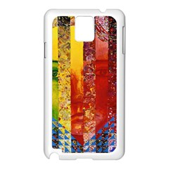 Conundrum I, Abstract Rainbow Woman Goddess  Samsung Galaxy Note 3 N9005 Case (white) by DianeClancy