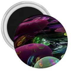 Creation Of The Rainbow Galaxy, Abstract 3  Button Magnet by DianeClancy