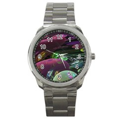Creation Of The Rainbow Galaxy, Abstract Sport Metal Watch by DianeClancy