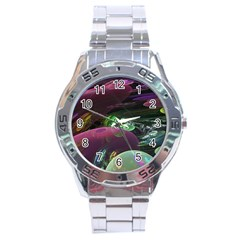Creation Of The Rainbow Galaxy, Abstract Stainless Steel Watch by DianeClancy