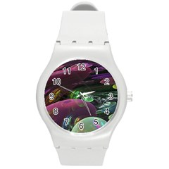 Creation Of The Rainbow Galaxy, Abstract Plastic Sport Watch (medium) by DianeClancy