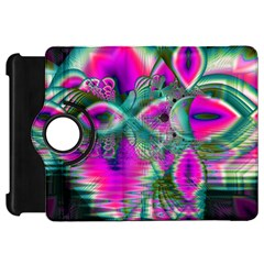 Crystal Flower Garden, Abstract Teal Violet Kindle Fire Hd 7  (1st Gen) Flip 360 Case by DianeClancy
