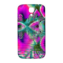 Crystal Flower Garden, Abstract Teal Violet Samsung Galaxy S4 I9500/i9505  Hardshell Back Case by DianeClancy