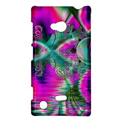 Crystal Flower Garden, Abstract Teal Violet Nokia Lumia 720 Hardshell Case by DianeClancy