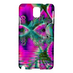 Crystal Flower Garden, Abstract Teal Violet Samsung Galaxy Note 3 N9005 Hardshell Case by DianeClancy