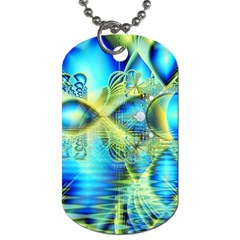 Crystal Lime Turquoise Heart Of Love, Abstract Dog Tag (one Sided) by DianeClancy