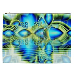 Crystal Lime Turquoise Heart Of Love, Abstract Cosmetic Bag (XXL)