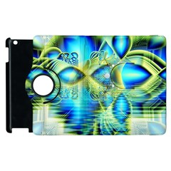 Crystal Lime Turquoise Heart Of Love, Abstract Apple Ipad 3/4 Flip 360 Case by DianeClancy