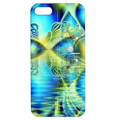 Crystal Lime Turquoise Heart Of Love, Abstract Apple Iphone 5 Hardshell Case With Stand by DianeClancy