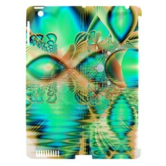 Golden Teal Peacock, Abstract Copper Crystal Apple Ipad 3/4 Hardshell Case (compatible With Smart Cover) by DianeClancy