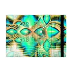 Golden Teal Peacock, Abstract Copper Crystal Apple Ipad Mini Flip Case by DianeClancy