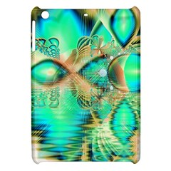 Golden Teal Peacock, Abstract Copper Crystal Apple Ipad Mini Hardshell Case