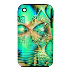 Golden Teal Peacock, Abstract Copper Crystal Apple Iphone 3g/3gs Hardshell Case (pc+silicone) by DianeClancy