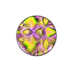Golden Violet Crystal Heart Of Fire, Abstract Golf Ball Marker 10 Pack (for Hat Clip) by DianeClancy