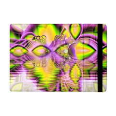 Golden Violet Crystal Heart Of Fire, Abstract Apple Ipad Mini Flip Case by DianeClancy
