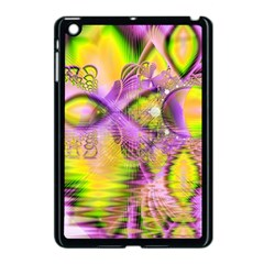 Golden Violet Crystal Heart Of Fire, Abstract Apple Ipad Mini Case (black) by DianeClancy