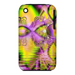 Golden Violet Crystal Heart Of Fire, Abstract Apple Iphone 3g/3gs Hardshell Case (pc+silicone) by DianeClancy