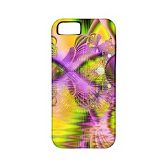 Golden Violet Crystal Heart Of Fire, Abstract Apple Iphone 5 Classic Hardshell Case (pc+silicone) by DianeClancy