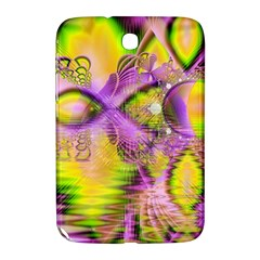 Golden Violet Crystal Heart Of Fire, Abstract Samsung Galaxy Note 8.0 N5100 Hardshell Case  by DianeClancy