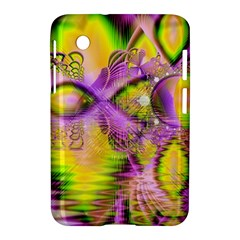 Golden Violet Crystal Heart Of Fire, Abstract Samsung Galaxy Tab 2 (7 ) P3100 Hardshell Case  by DianeClancy