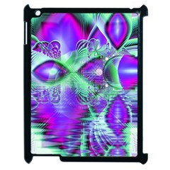 Violet Peacock Feathers, Abstract Crystal Mint Green Apple Ipad 2 Case (black) by DianeClancy